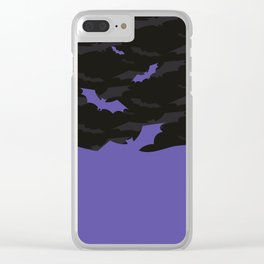 Flying Bats Clear iPhone Case