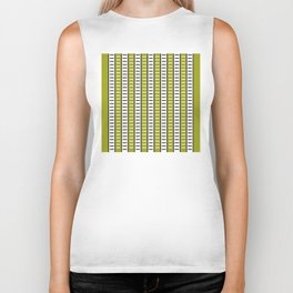 Stripes Pattern 203 (green stripes) Biker Tank