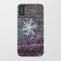 snowflake iPhone & iPod Cases featuring snowflake by Bonnie Jakobsen-Martin