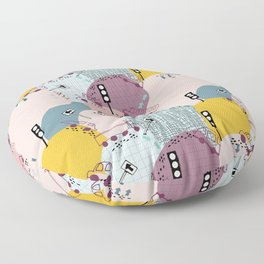 Four wheels Pink #homedecor Floor Pillow