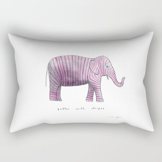 better with stripes Rectangular Pillow