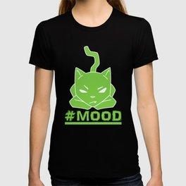 #MOOD Cat Green T-shirt