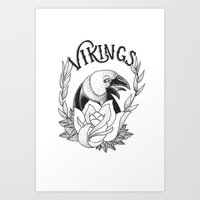 vikings Art Prints featuring Vikings by Christiano Mere