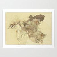 degas Art Prints featuring Hommage à Degas VIII by Ute Rathmann