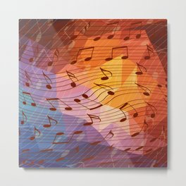Music notes III Metal Print