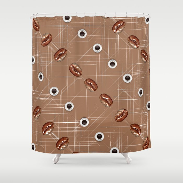 Coffee and Beans. Shower Curtain