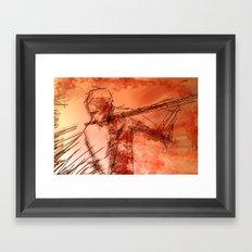the flutist Framed Art Print