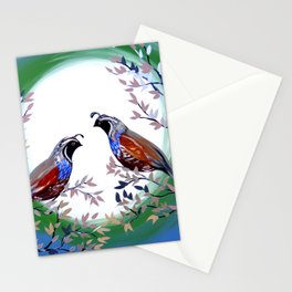 Quails and Serenity Stationery Cards