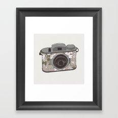 Floral Camera Framed Art Print