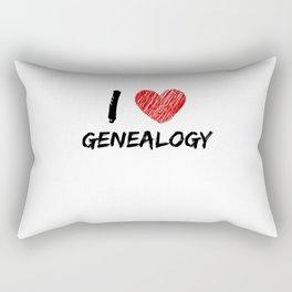 I Love Genealogy Rectangular Pillow