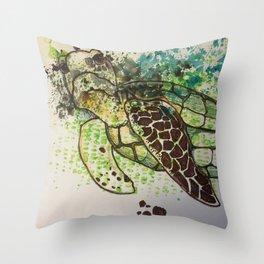 Hawksbill Sea Turtle Throw Pillow