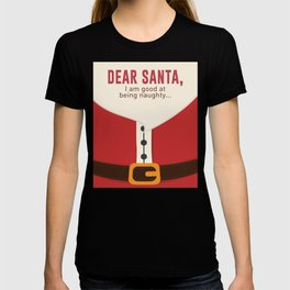 Dear Santa Good Bad Nice Naughty List Funny Design T-shirt
