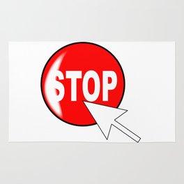 Computer Icon Stop Rug