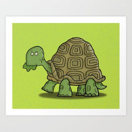 Hungry Tortoise Art Print