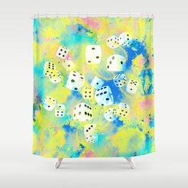 Abstract Dice Digital Art Shower Curtain