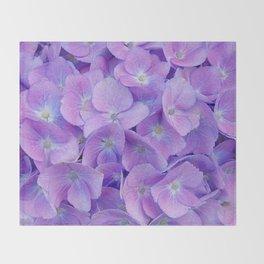 Hydrangea lilac Throw Blanket