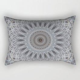 Mandala in silver and grey tones Rectangular Pillow