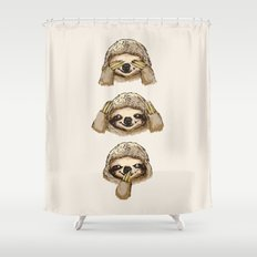 No Evil Sloth Shower Curtain