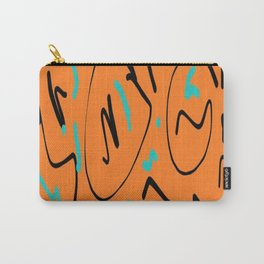 Ocre black blue Carry-All Pouch