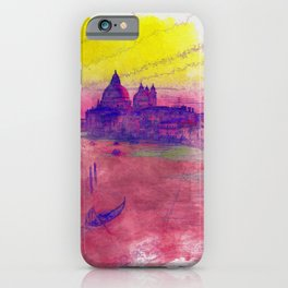 Venezia Canal Grande - SKETCH-ART iPhone Case