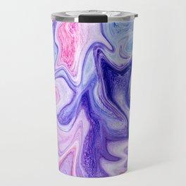 Pink Purple Liquid Marble Travel Mug