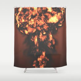 A nuclear explosion Shower Curtain