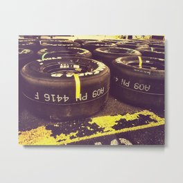 Racing Tires Metal Print