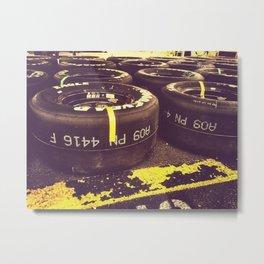Racing Tires Metal Print