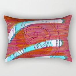 Set Me Free #glitch #art Rectangular Pillow