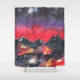 Aspiring Altitudes Shower Curtain