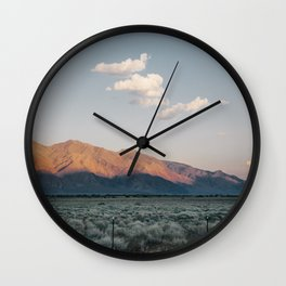 Sierra Mountains with Harvest Moon Wall Clock