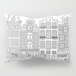 Amsterdam Line Art Pillow Sham