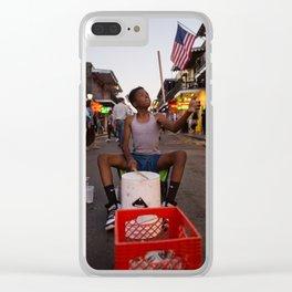Bucket Boy on Bourbon Street, 2017 Clear iPhone Case
