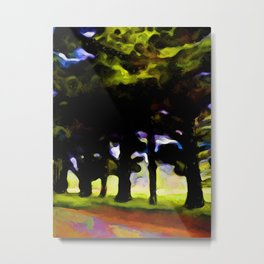 Landscape with Trees and Branches Metal Print