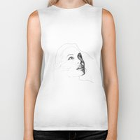 angelina jolie Biker Tanks featuring Amazing Angelina Jolie Draw by hdesign