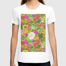 60's Groovy Garden in Lime Green T-shirt