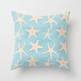 Starfish in the Water Throw Pillow