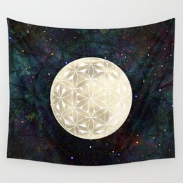 The Flower of Life Moon 2 Wall Tapestry