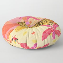 Tiger and Mandarin Ducks Floor Pillow