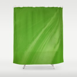 Blurred Emerald Green Wave Trajectory Shower Curtain