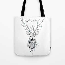 Poetic Deer Tote Bag