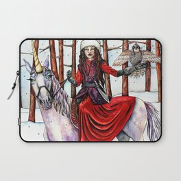 Winter Warrior by DeeDee Draz Laptop Sleeve
