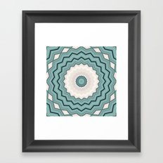 Abstract Turquoise Rings Framed Art Print