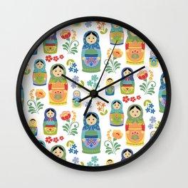 Russian Nesting Dolls Wall Clock