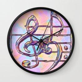 Music Symbols 3 Wall Clock