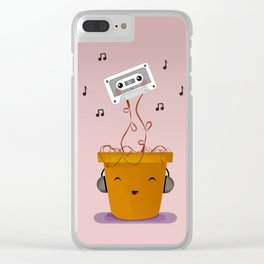 Smells Like 90s Music Clear iPhone Case