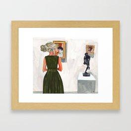 Museum Dreads Framed Art Print