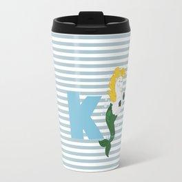 k for kelpie Travel Mug