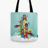 street fighter Tote Bags featuring Street Fighter 25th Anniversary!!! by Ed Warner