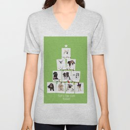 Have a Paw-some Holiday! Unisex V-Neck